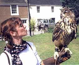 Heidi with owl