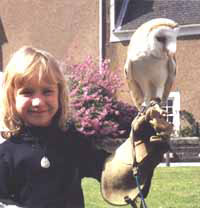 Maddison with owl