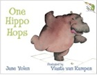 Cover of One Hippo Hops by Jane Yolen