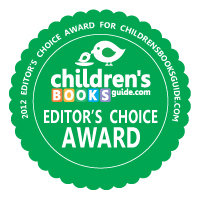 A badge denoting Creepy monsters as a Children's Books Guide Editor's Choice Award winner